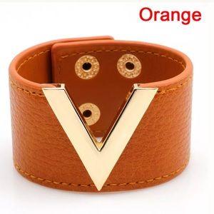 New V Genuine leather cuff/ bracelet